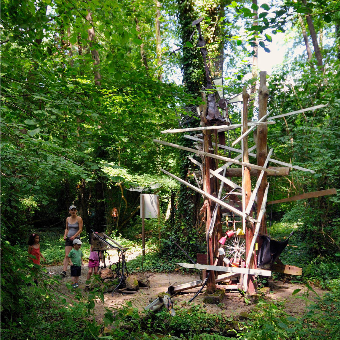 Moulin, sculture en bois